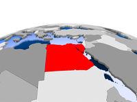 Egypt on political globe
