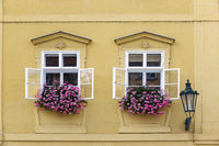 Prague. Window in the old house