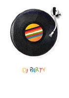 DJ Party template poster