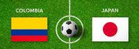 Football match Comobia vs. Japan