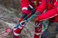 Paramedics mountain rescue service