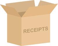 Open Tax Receipts Box Vector