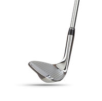 Chrome Golf Club Wedge Iron on White Background