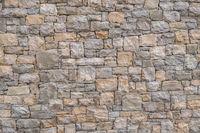 Decorative and irregular stone wall