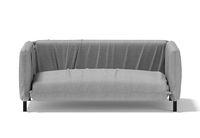 Sofa a soft gray color . 3D rendering.