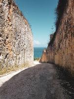 Between beautiful high limestone cliffs