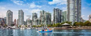 Vancouver skyline British Columbia Canada