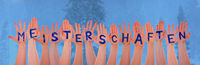 Hands With Meisterschaften Means Championship, Winter Forest