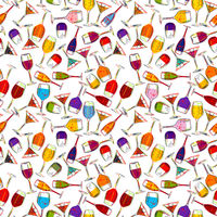 Drink and cocktail pattern