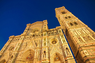 Night view of the Cathedral of Santa Maria in Florence