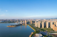 jiujiang cityscape on lakeside