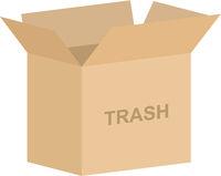 Open Trash Box Vector