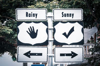 Street Sign Sunny versus Rainy