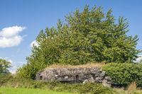 Reste eines Bunkers,  Maginot-Linie, 2. Weltkrieg