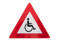 Traffic sign isolated - Man in wheelchair