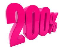 Percent Discount 3d Sign