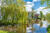 Zaanse Schans Neighbourhood of Zaandam in Netherlands