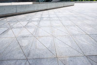 empty marble square of a modern city