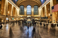 Menschen im Grand Central Terminal in New York