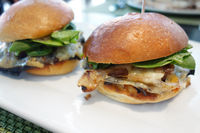 Portobello mushroom vegetarian burgers