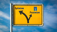 Street Sign Optimism versus Pessimism