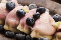 Blueberry dumplings, pierogi