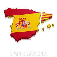 Map Spain Catalonia