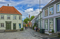 Street In The Old Town, Trondheim, Norway
