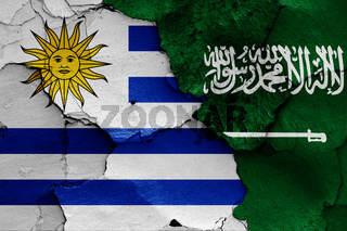 flags of Uruguay and Saudi Arabia