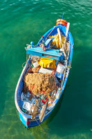 Oar fishing boat