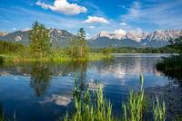 Lake Barmsee at the Karwendel mountains