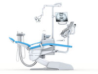 3D rendering modern dental chair