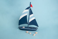 Toy Boat with Shells