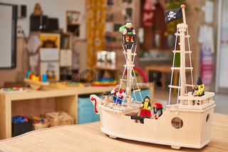 Woodden pirate ship toy