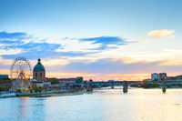 Toulouse landmark river Garone  France