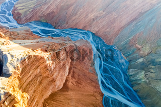 canyon and riverbed