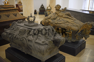 Särge in der Hohenzollern Gruft,  Berliner Dom, Berlin, Deutschl