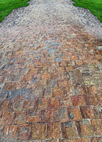 texture and surface on walkway
