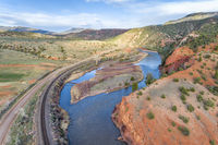 upper Colorado River aerial view