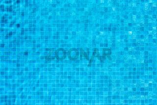 Swimming pool blue mosaic background