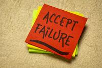 accept failure reminder note