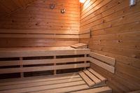 sauna wooden bath steam room hot healthy life, empty interior