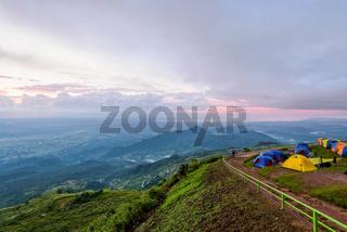 Phu Thap Berk during the sunrise