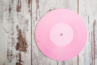 Pink Round Silicone Trivet on White