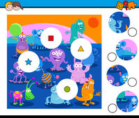 match pieces puzzle with fantasy monsters