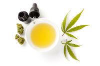 CBD oil cannabis extract, Medical marijuana concept.