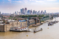 London cityscape with River Thames