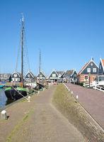 Fischerdorf Marken im Markermeer,suedlicher Teil im Ijsselmeer,Niederlande