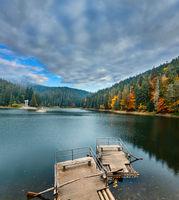 Lake Synevyr autumn view.