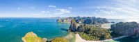 Aerial view of Railay beach in Krabi province, Thailand